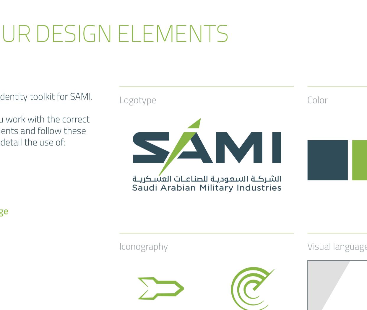 Saudi Arabian Military Industries (SAMI) Corporate Identity